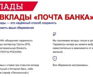 Вклады «Почта Банка» «Капитальный», «Доходный» и «Накопительный» — подробности
