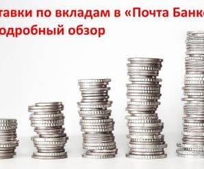 Ставки по вкладам в «Почта Банке»: подробный обзор