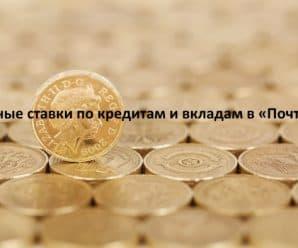Процентные ставки по кредитам и вкладам в «Почта Банке»